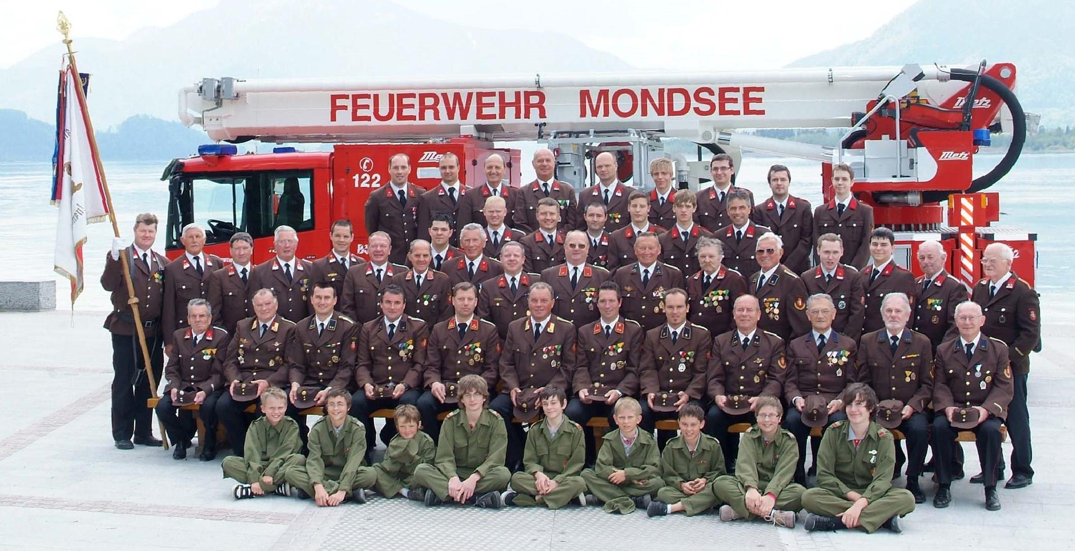 2007 Mannschaftsfoto Feuerwehr Mondsee