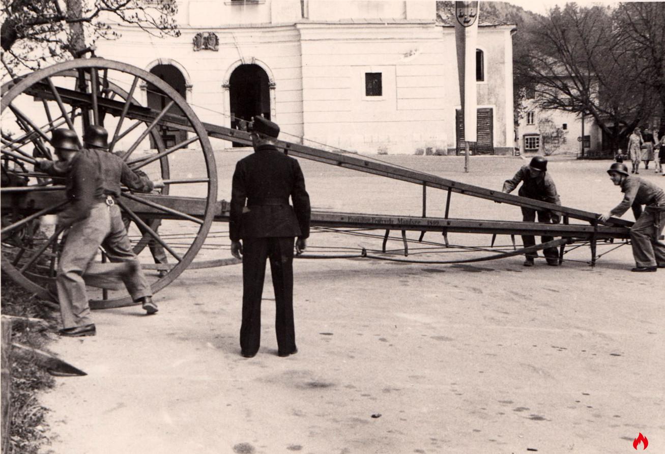1908 Balanz Schiebeleiter FF Mondsee