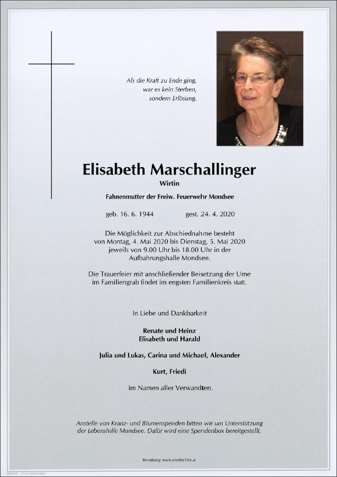 Parte Fahnenmutter Elisabeth Marschallinger
